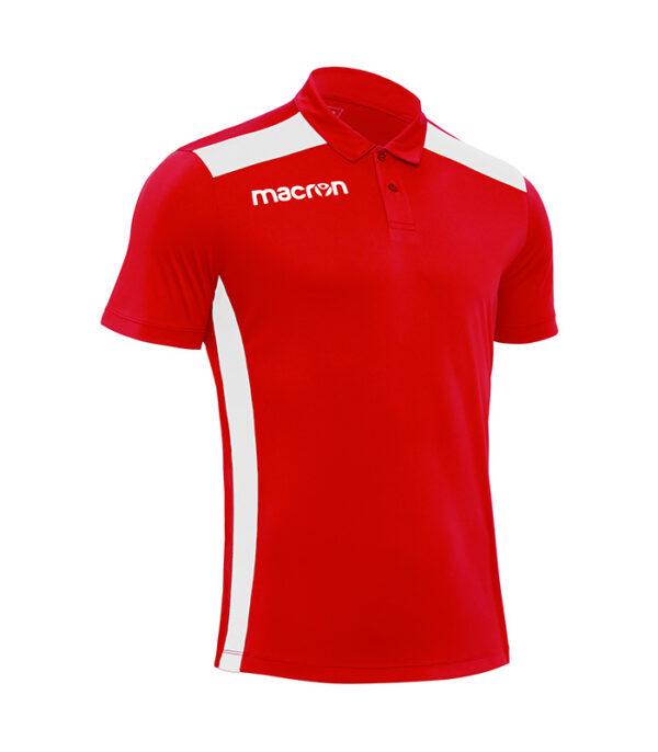 tricou prezentare rosu macron