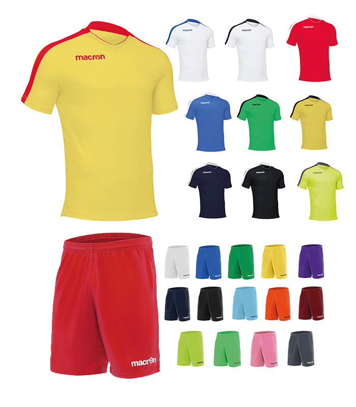 set echipament fotbal macron
