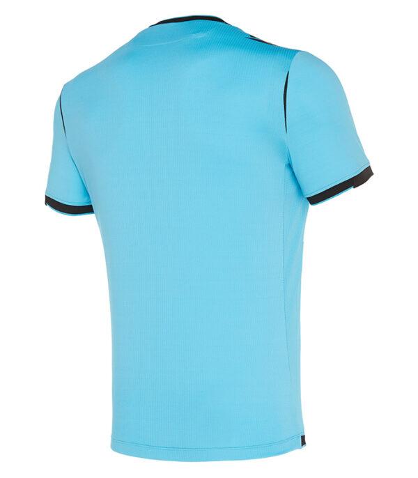 tricou arbitru uefa macron albastru